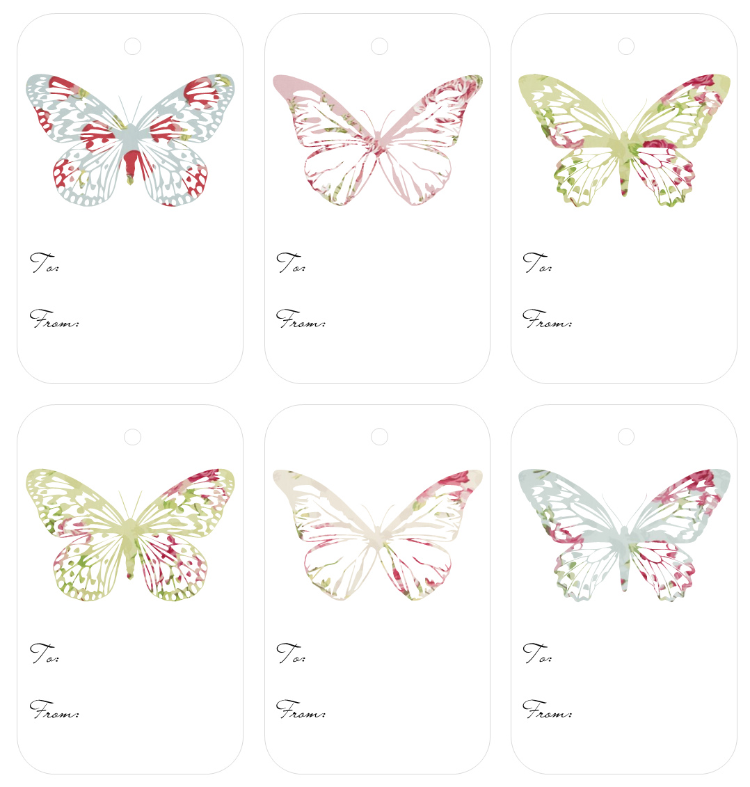 More Vintage Butterfly Freebies…