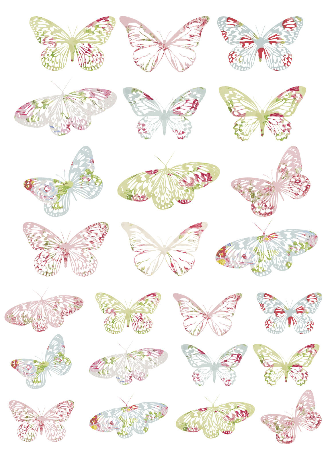 It's just a graphic of Clever Free Printable Butterflies